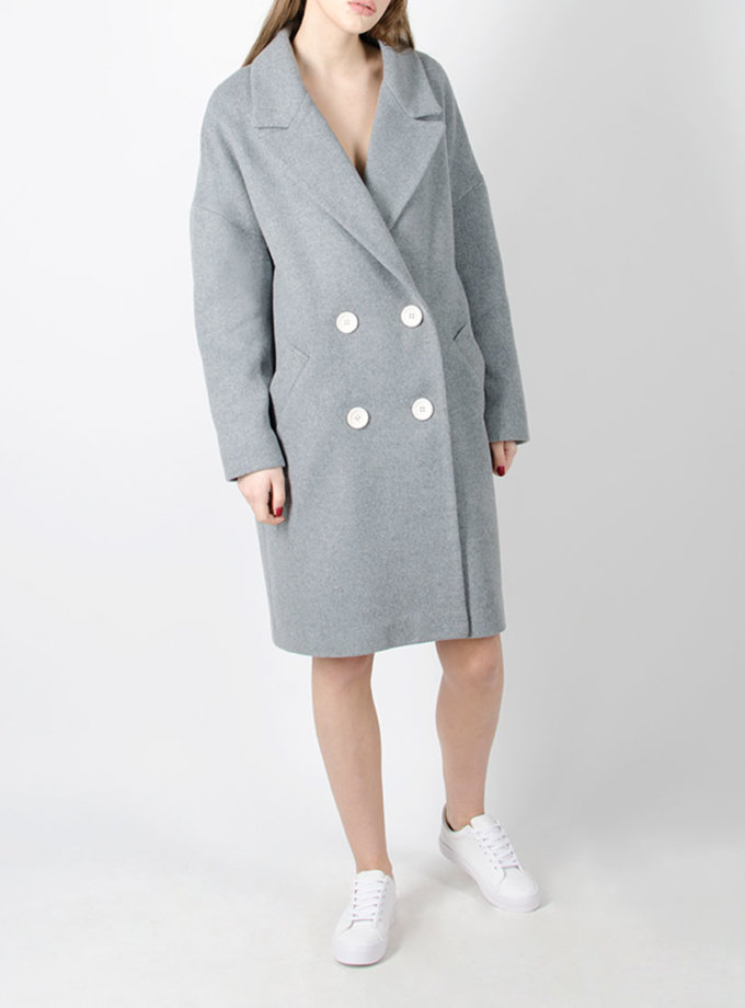 Пальто из шерсти oversize BEAVR_BA_FW17_18_14, фото 1 - в интернет магазине KAPSULA
