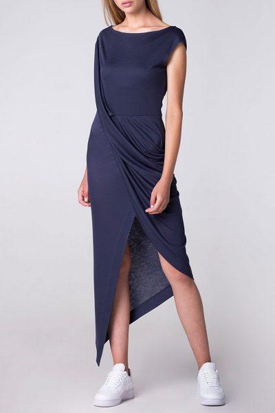 Платье с драпировкой и асимметрией BEAVR_BA_SS18_42, фото 5 - в интеренет магазине KAPSULA