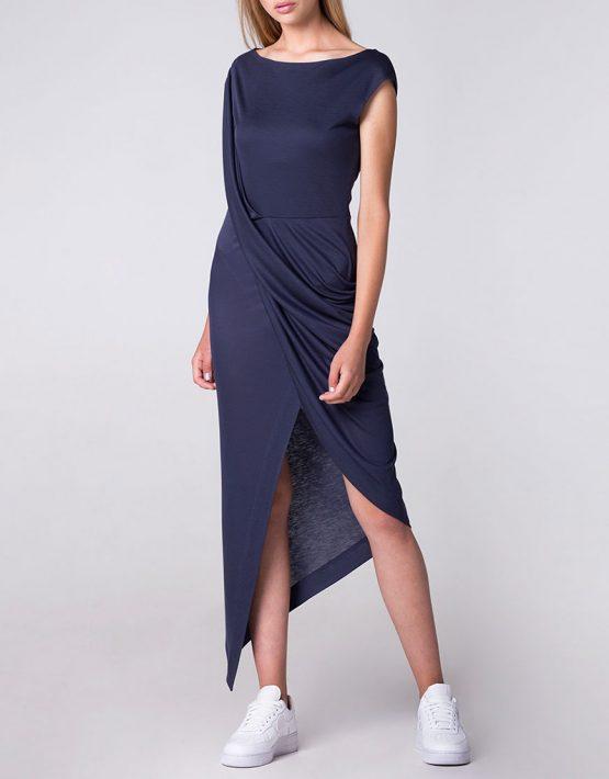Платье с драпировкой и асимметрией BEAVR_BA_SS18_42, фото 1 - в интеренет магазине KAPSULA