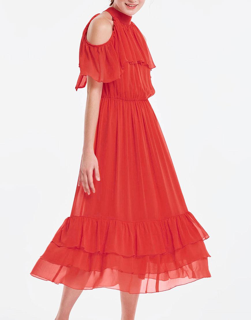 Купить Платье с воланами на резинке