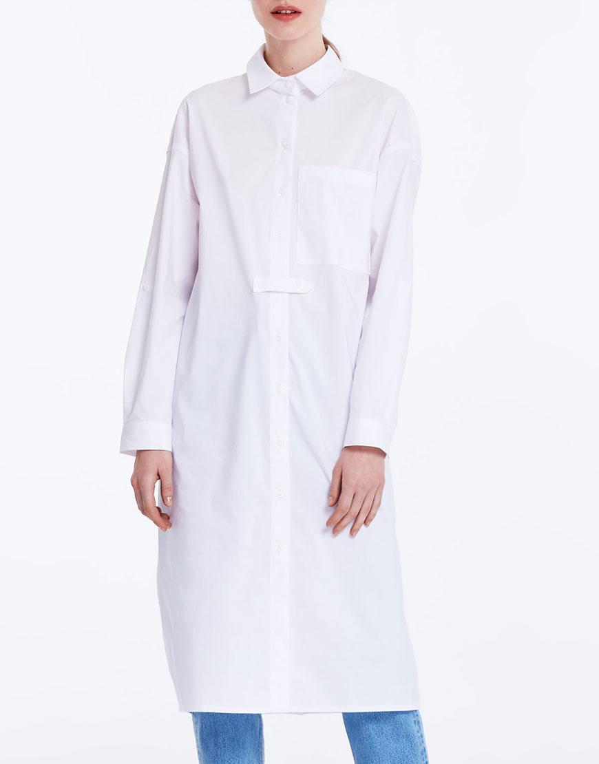 Купить Платье-рубашка с карманом на груди