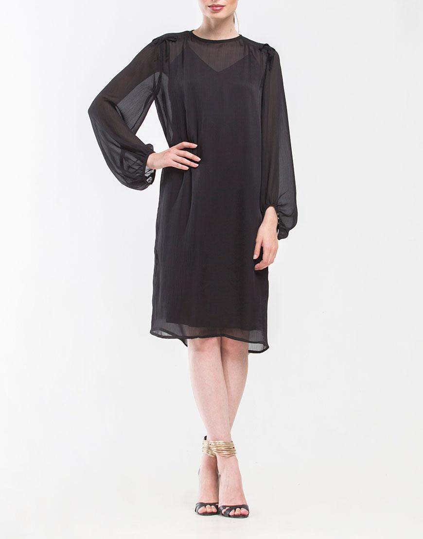 Платье двойное прямого кроя