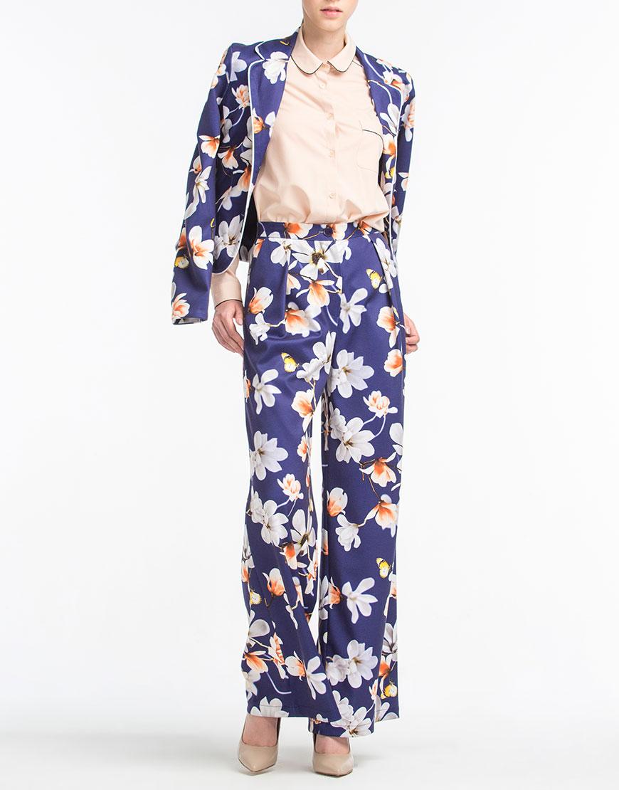Купить Широкие брюки в цветочный принт