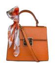 Кожаная сумка с брелком-кисточкой CNFR_892760318_camel, фото 5 - в интеренет магазине KAPSULA