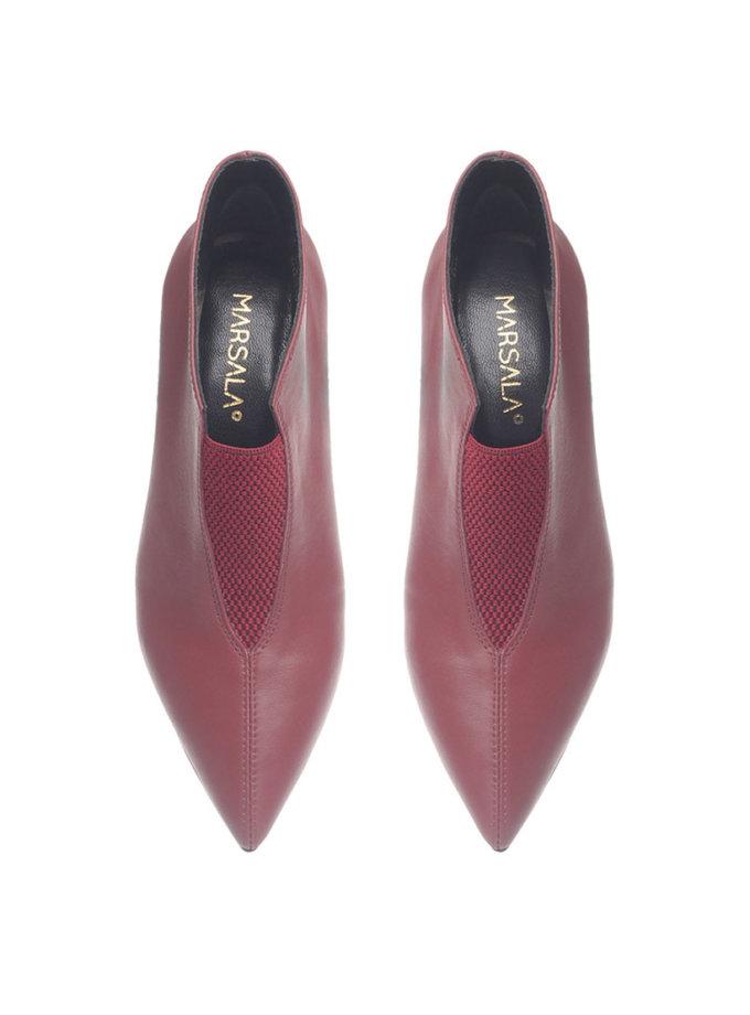 Кожаные ботинки Delta Bordeaux MRSL_924922_kapsula, фото 1 - в интернет магазине KAPSULA