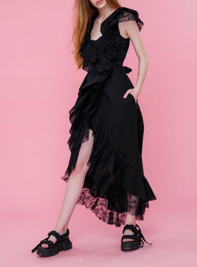 Платье с кружевом из хлопка MZRB_SS18DRESSBLACKLACE, фото 1 - в интернет магазине KAPSULA