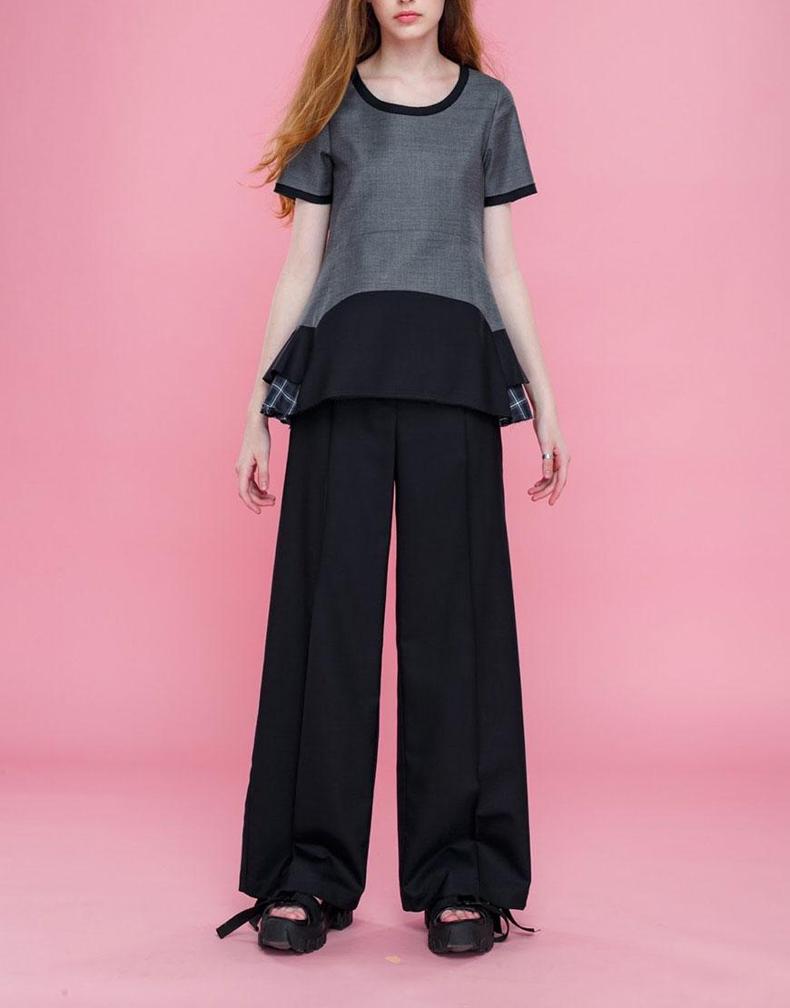 Широкие брюки из шерсти
