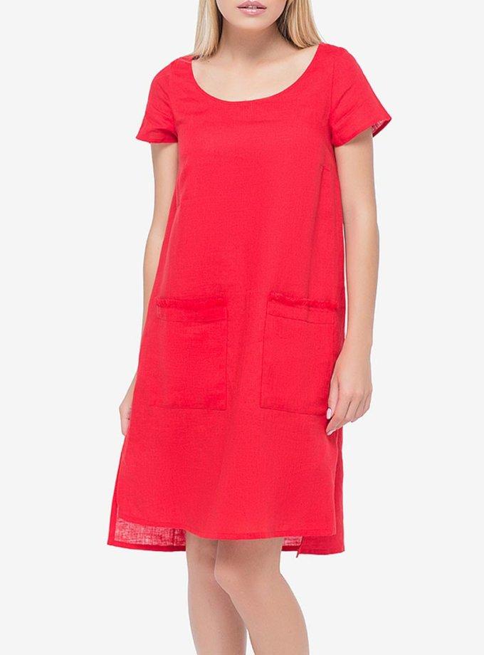 Льняное платье с разрезами по бокам MRND_М27-2, фото 1 - в интернет магазине KAPSULA
