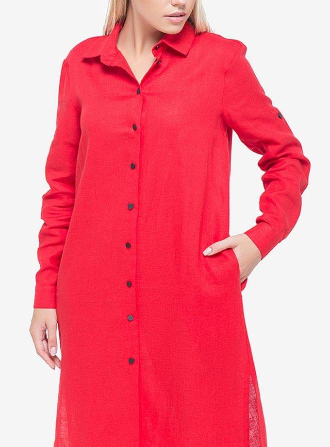 Льняное платье-рубашка MRND_М3, фото 1 - в интернет магазине KAPSULA