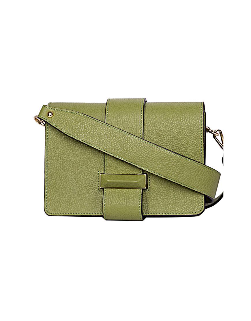 Кожаная сумка с широким ремешком Olive