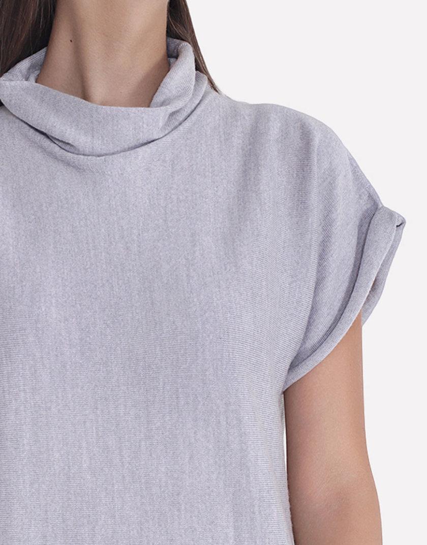 Бесшовное вязаное платье свободного силуэта JND_14-010602_gray, фото 1 - в интернет магазине KAPSULA