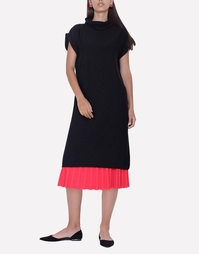 Бесшовное вязаное платье свободного силуэта JND_14-010602_black, фото 1 - в интернет магазине KAPSULA