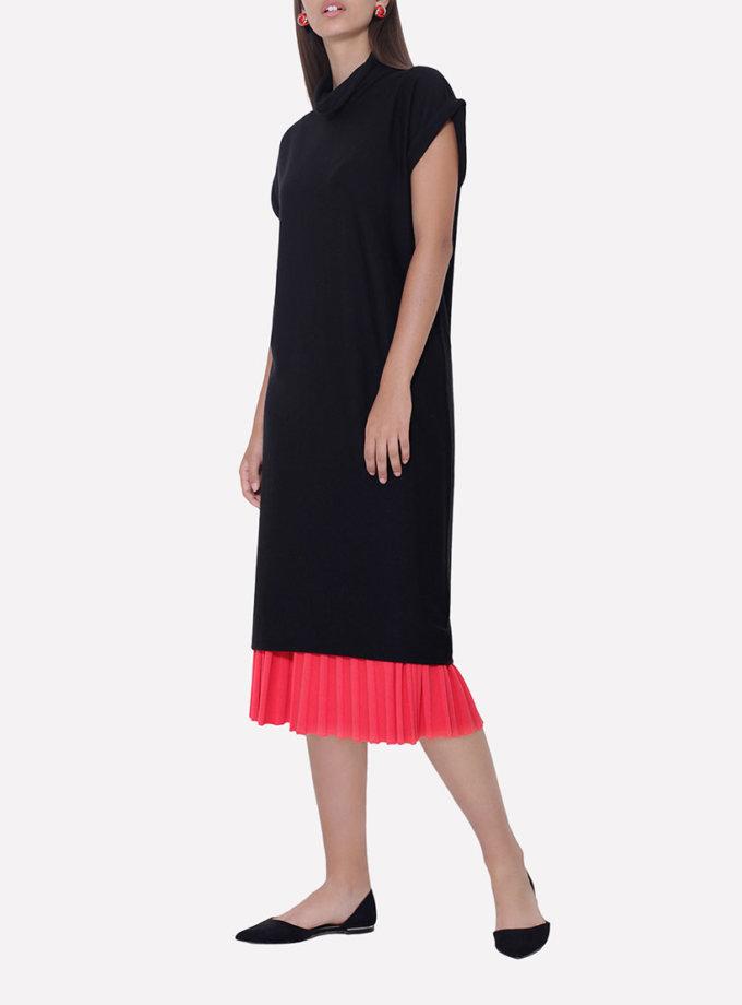 Бесшовное вязаное платье свободного силуэта JND_14-010602_black, фото 1 - в интеренет магазине KAPSULA