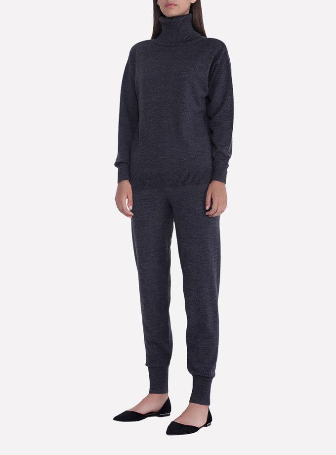Вязаные брюки - джоггеры JND_17-012106_dark_gray, фото 1 - в интернет магазине KAPSULA