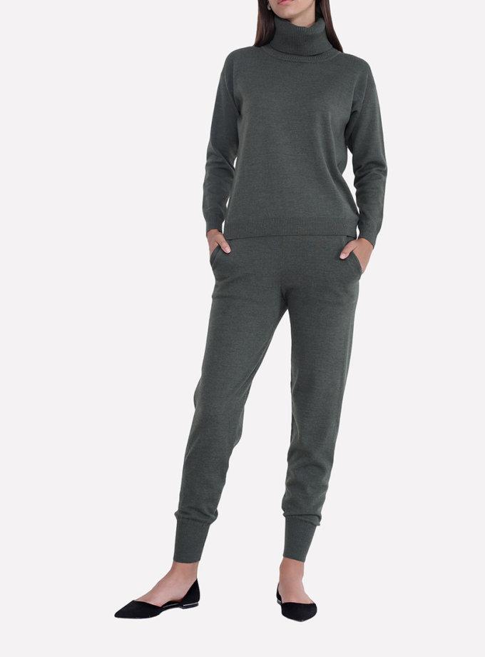 Вязаные брюки - джоггеры JND_17-012106_haki, фото 1 - в интеренет магазине KAPSULA