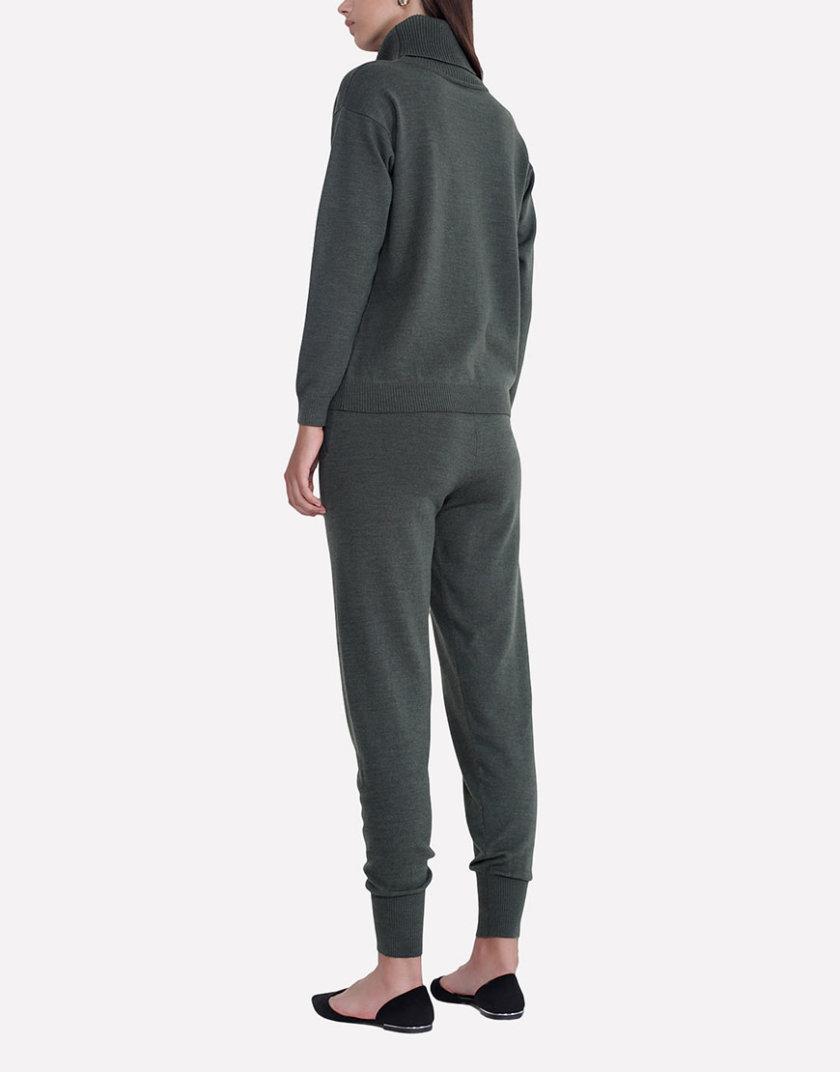 Вязаные брюки - джоггеры JND_17-012106_haki, фото 1 - в интернет магазине KAPSULA