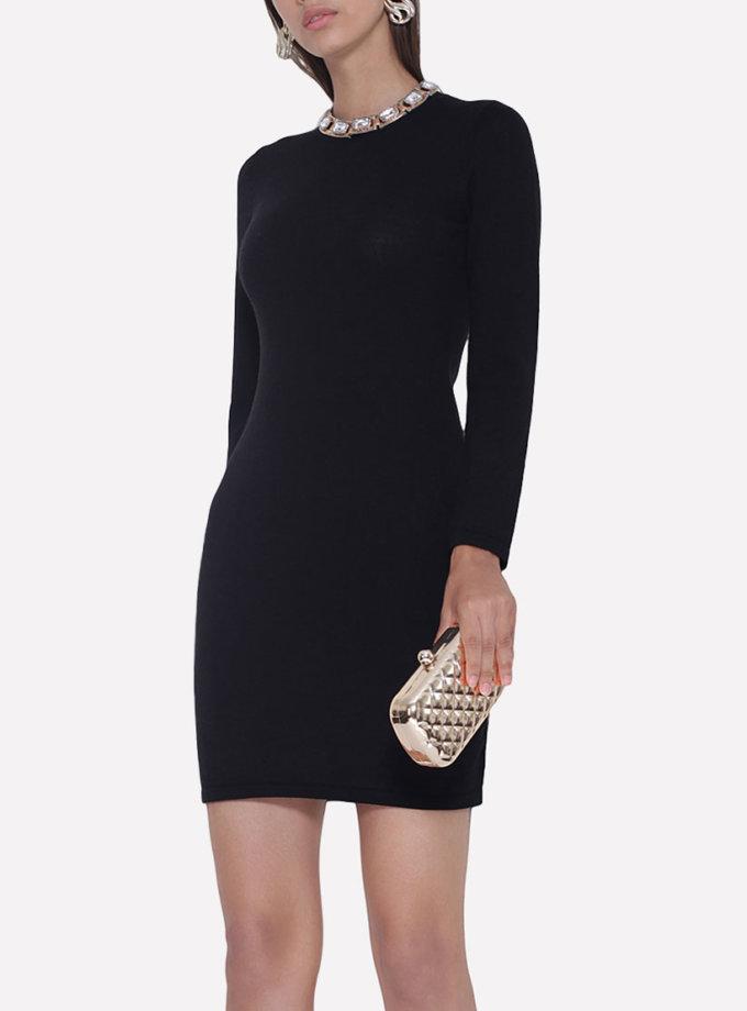 Вязаное платье JND_18-010621_black, фото 1 - в интеренет магазине KAPSULA