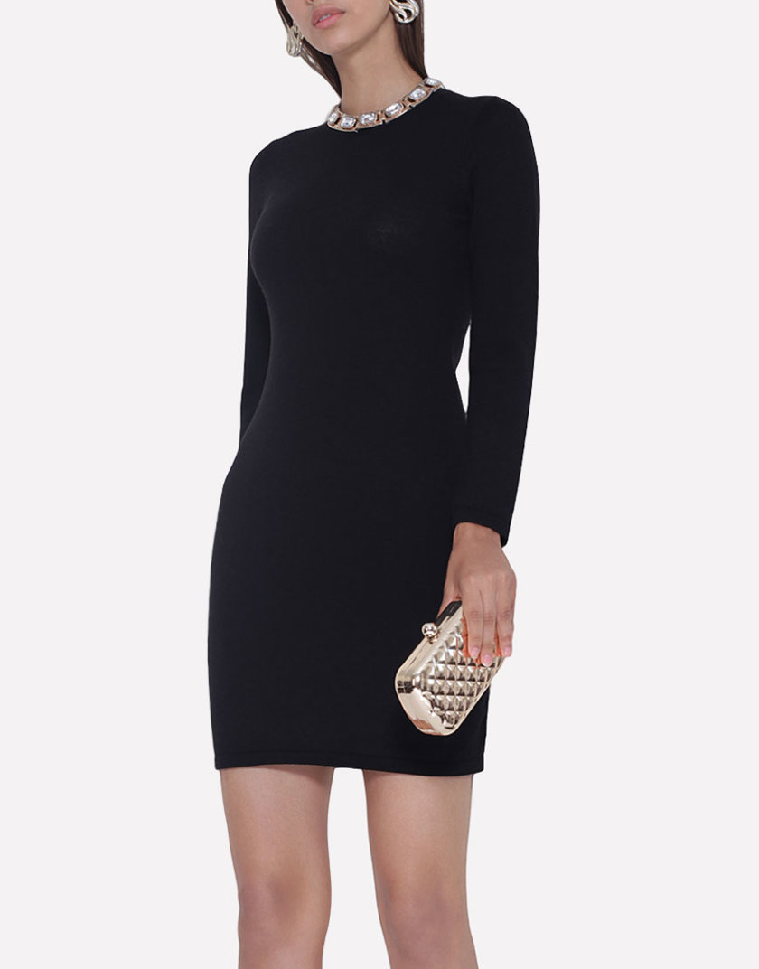 Вязаное платье JND_18-010621_black, фото 1 - в интернет магазине KAPSULA