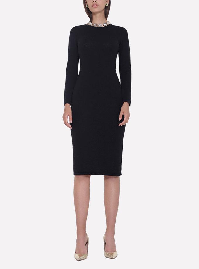 Вязаное платье JND_18-010622_black, фото 1 - в интеренет магазине KAPSULA