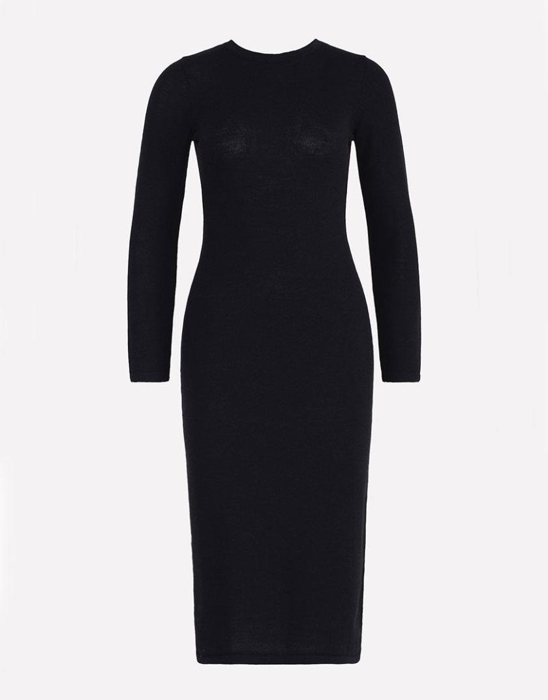 Вязаное платье JND_18-010622_black, фото 1 - в интернет магазине KAPSULA