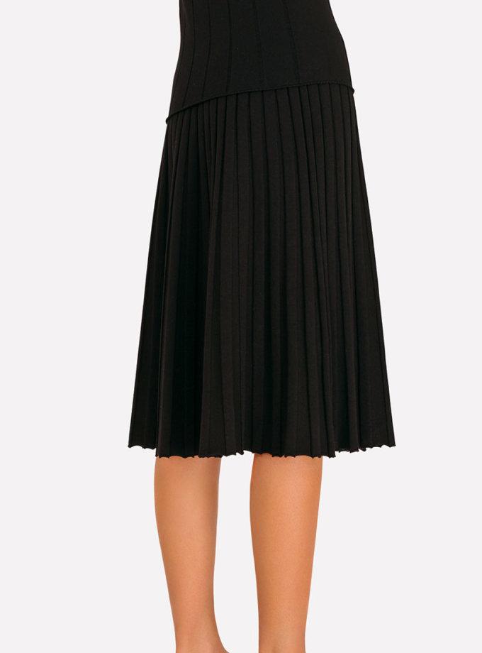 Вязаная плиссированная юбка JND_18-140505_black, фото 1 - в интеренет магазине KAPSULA