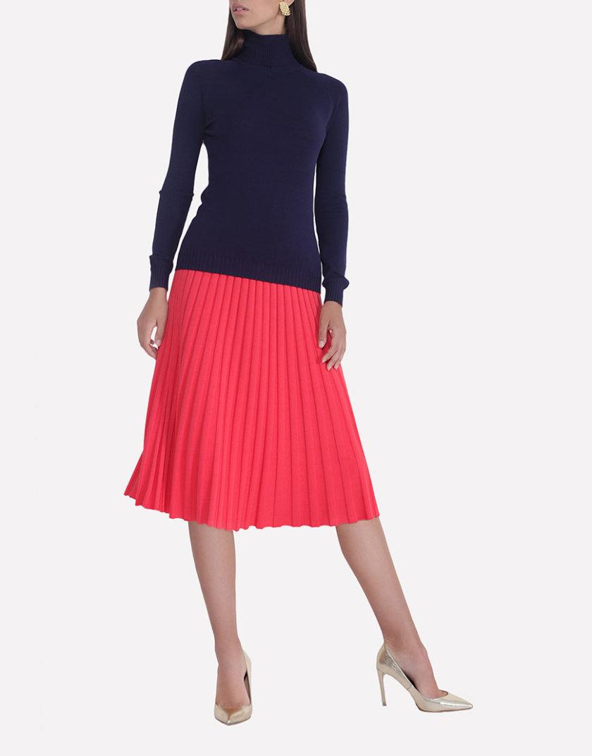 Вязаная плиссированная юбка JND_18-140505_red, фото 1 - в интернет магазине KAPSULA