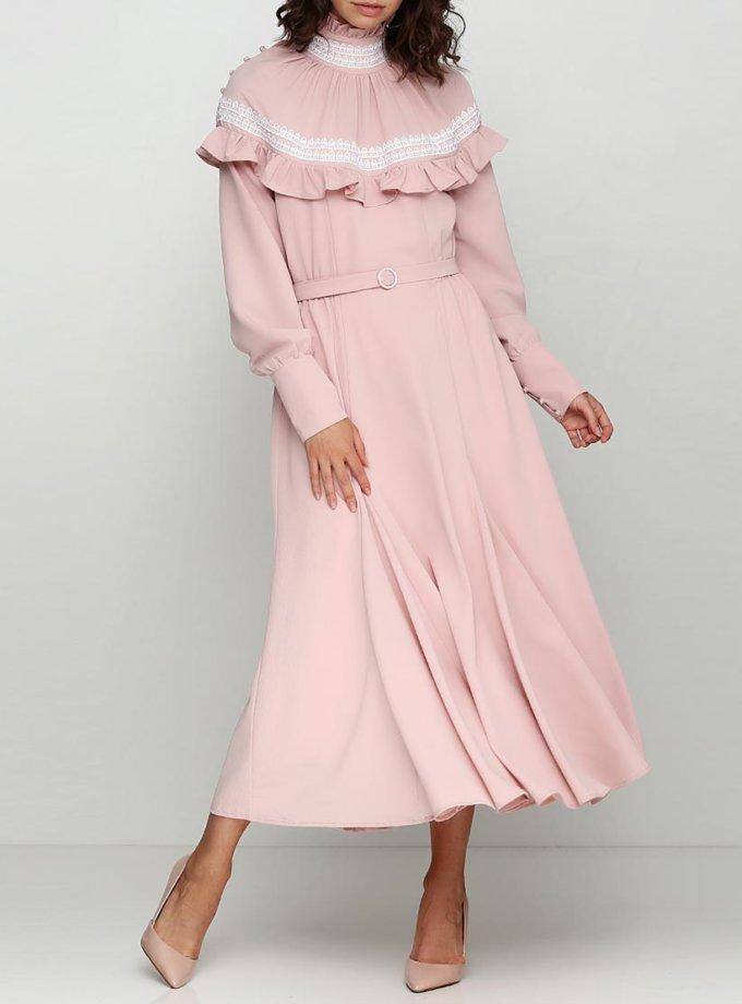 Платье макси с пышной юбкой на поясе AY_2397, фото 1 - в интернет магазине KAPSULA