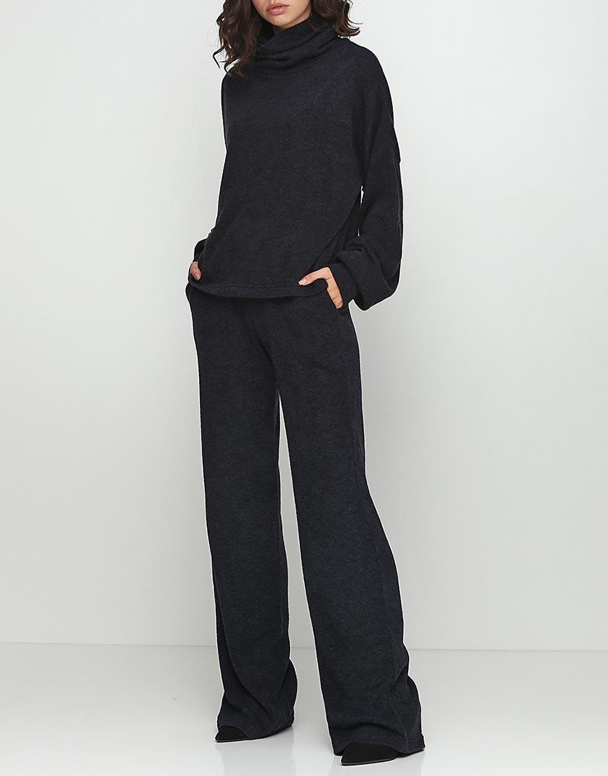 Купить Широкие брюки из трикотажа на резинке