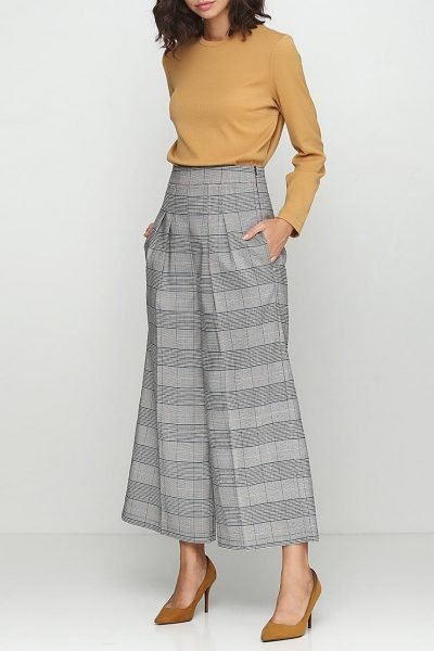 Широкие брюки с с высокой посадкой AY_2414, фото 3 - в интеренет магазине KAPSULA