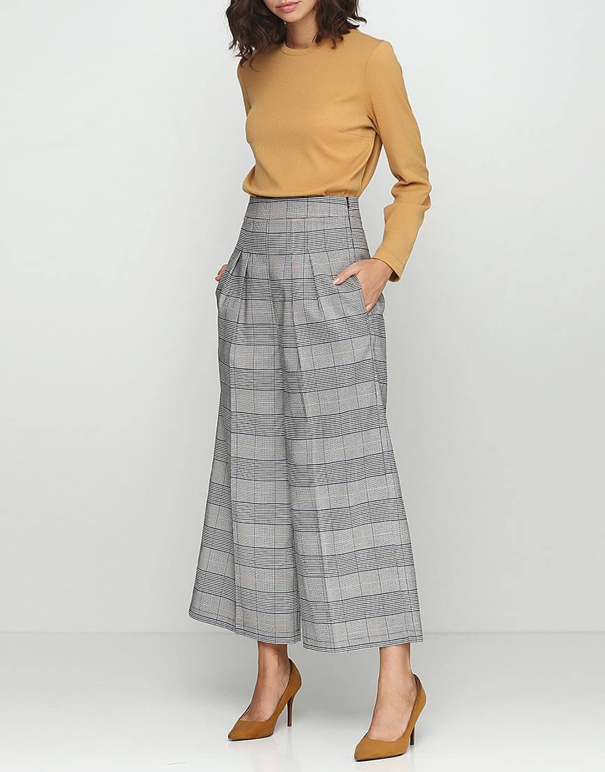 Купить Широкие брюки с с высокой посадкой