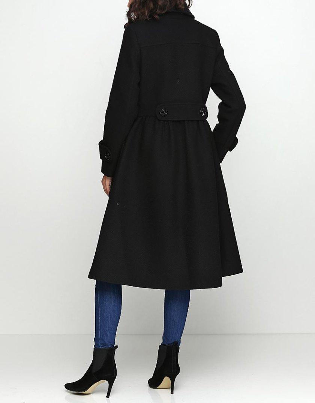 Пальто с рюшами и отрезной талией AY_2431, фото 1 - в интеренет магазине KAPSULA