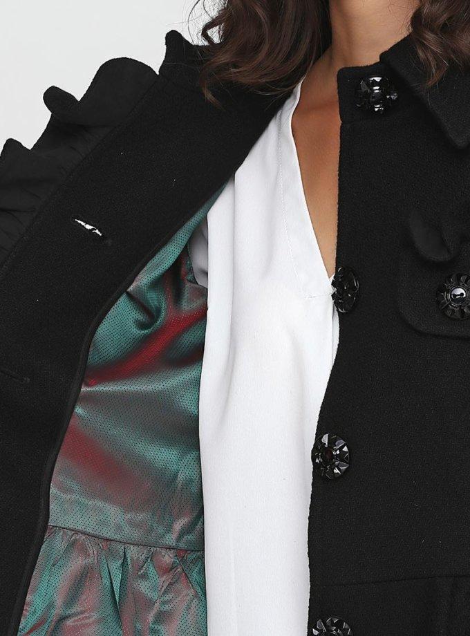 Пальто с рюшами и отрезной талией AY_2431, фото 1 - в интернет магазине KAPSULA