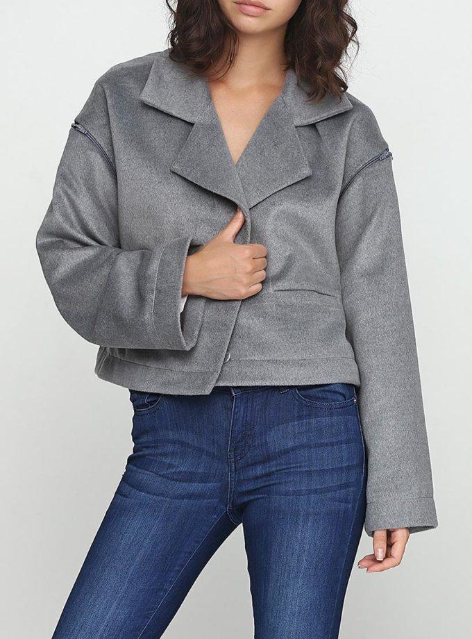Укороченное пальто с рукавом реглан AY_2436, фото 1 - в интернет магазине KAPSULA
