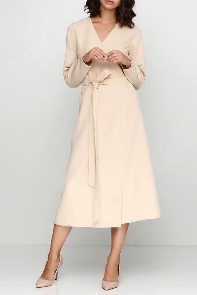 Платье на запахе А-силуэта AY_2437, фото 4 - в интеренет магазине KAPSULA
