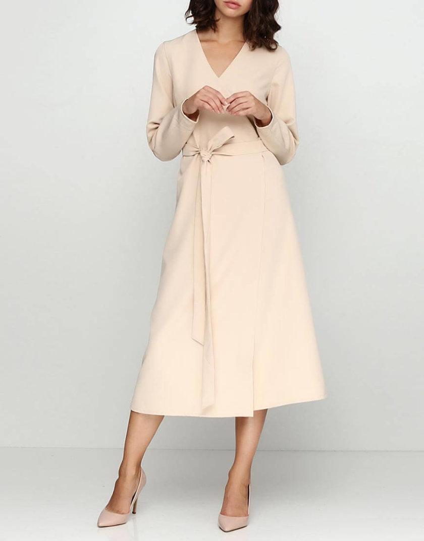 Платье на запахе А-силуэта AY_2437, фото 1 - в интернет магазине KAPSULA