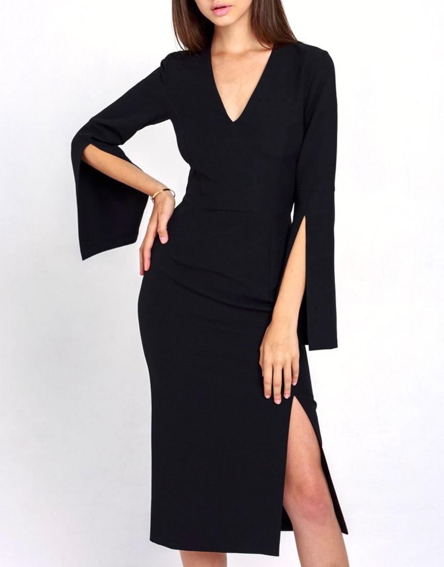 Платье-карандаш Sigma с разрезами на рукавах –