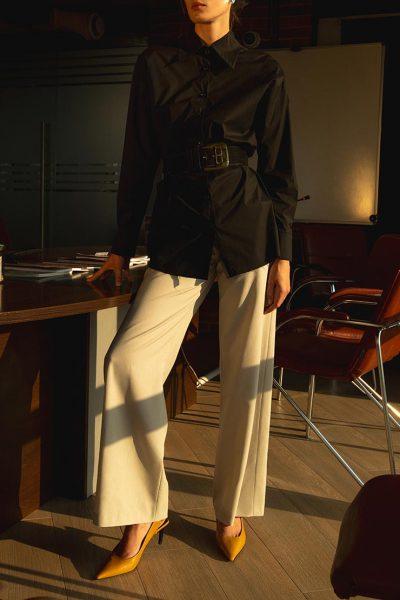 Брюки клеш бежевого цвета IRRO_IR_PF_PN_009, фото 1 - в интеренет магазине KAPSULA