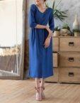 Платье макси на пуговицах из мягкой ткани MRND_М36-1, фото 5 - в интеренет магазине KAPSULA