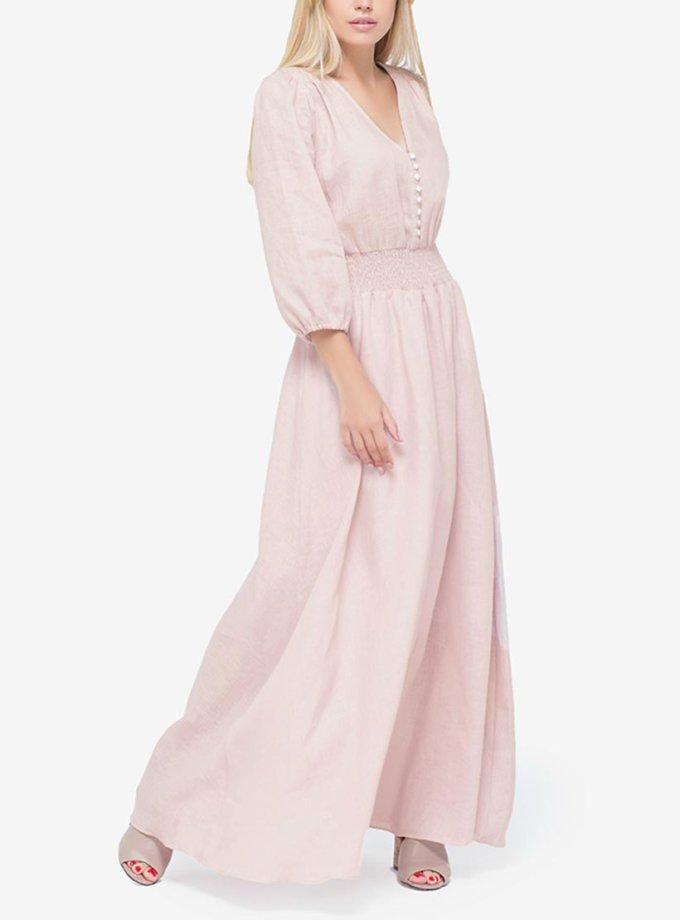 Платье макси на пуговицах из мягкой ткани MRND_М36-1, фото 1 - в интернет магазине KAPSULA