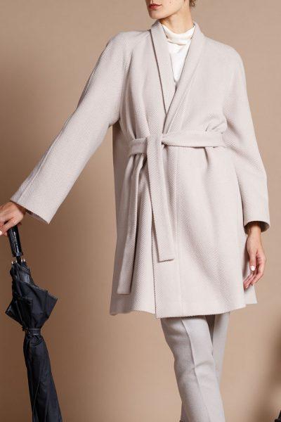 Пальто-трапеция на запахе INS_FW1819_03, фото 2 - в интеренет магазине KAPSULA