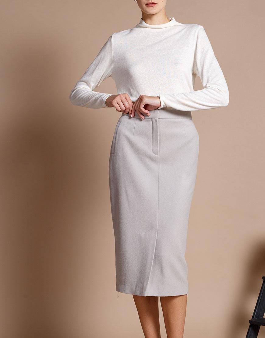 Купить Зауженная юбка из шерсти