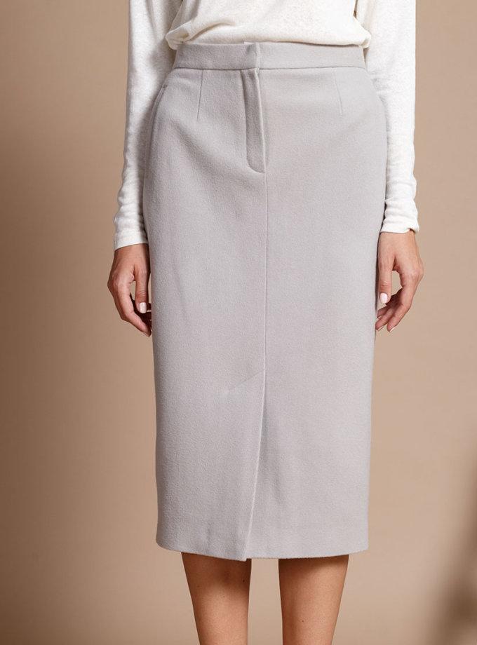 Зауженная юбка из шерсти INS_FW1819_08_1, фото 1 - в интернет магазине KAPSULA
