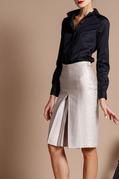 Юбка-шорты из шерсти с карманами INS_FW1819_10, фото 2 - в интеренет магазине KAPSULA