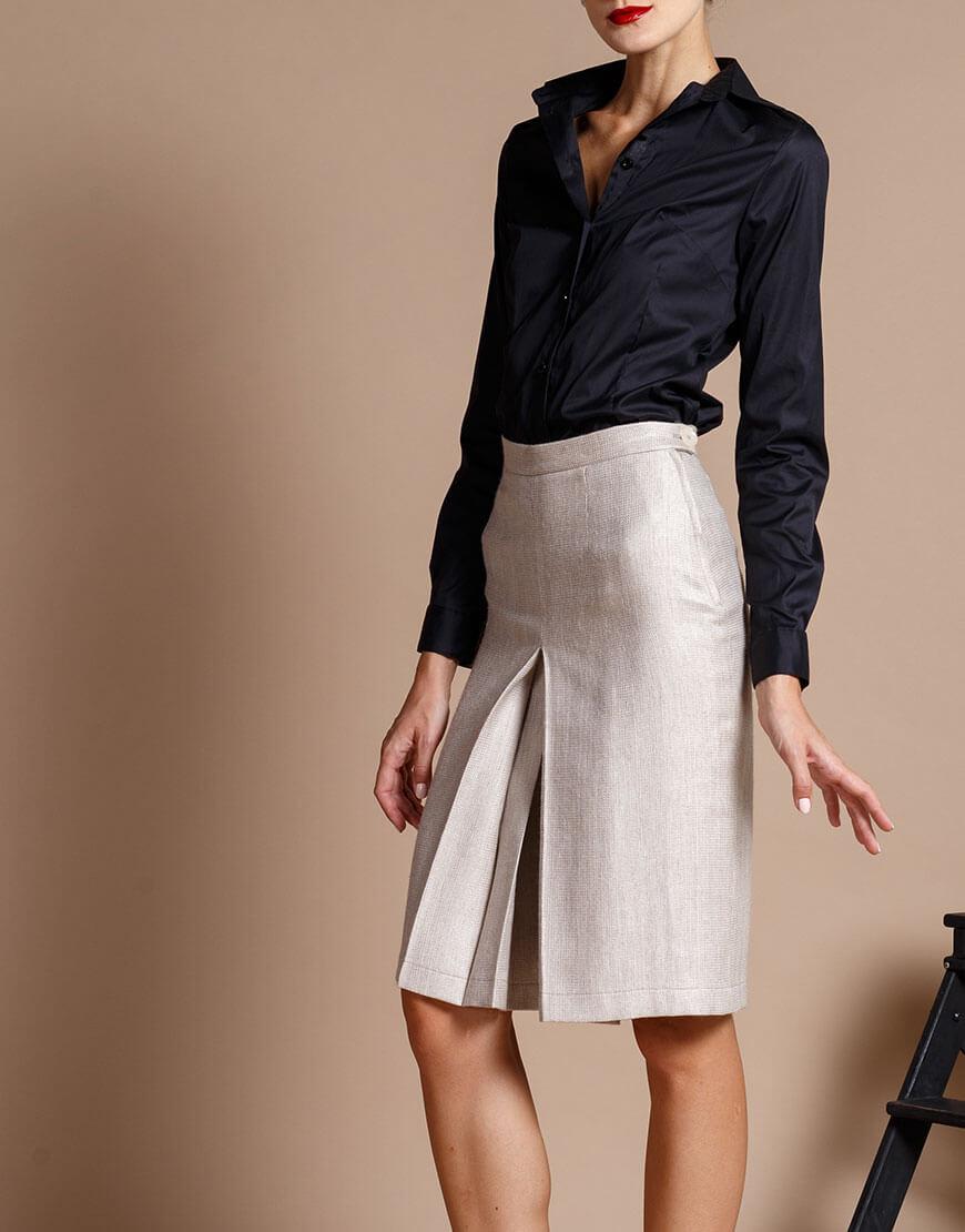 Купить Юбка-шорты из шерсти с карманами