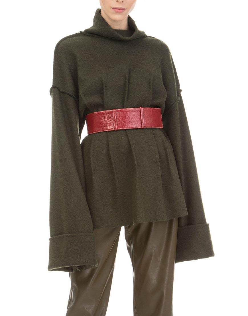 Свитер из шерсти с объемными рукавами