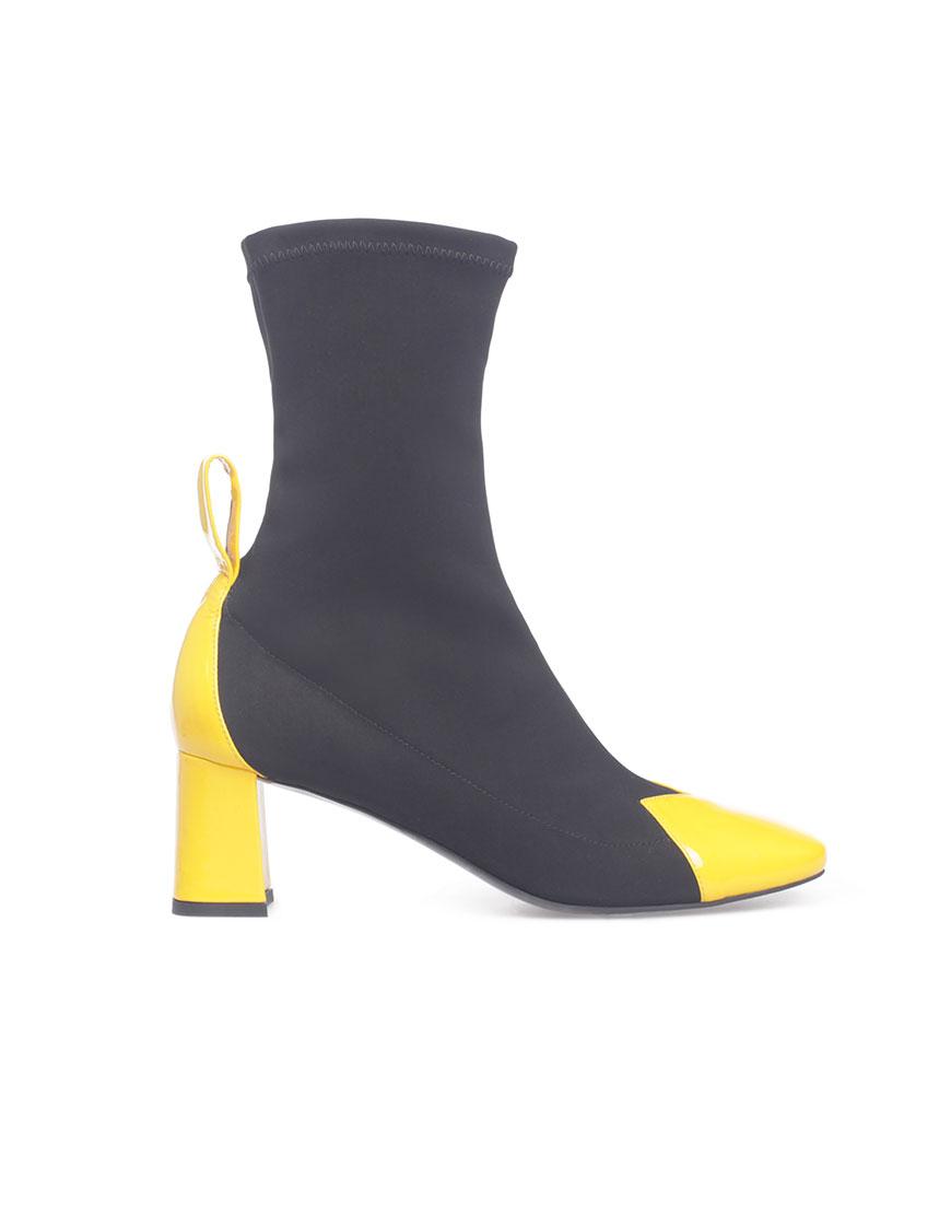 САПОГИ-чулки с лаковыми носками