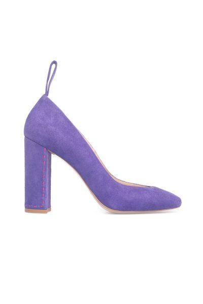 Туфли на устойчивом каблуке из замши SAYYA_FW828_1, фото 4 - в интеренет магазине KAPSULA