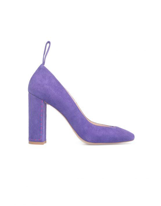 Туфли на устойчивом каблуке из замши SAYYA_FW828_1, фото 1 - в интеренет магазине KAPSULA