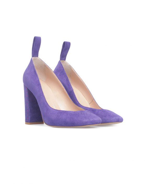 Туфли на устойчивом каблуке из замши SAYYA_FW828_1, фото 2 - в интеренет магазине KAPSULA