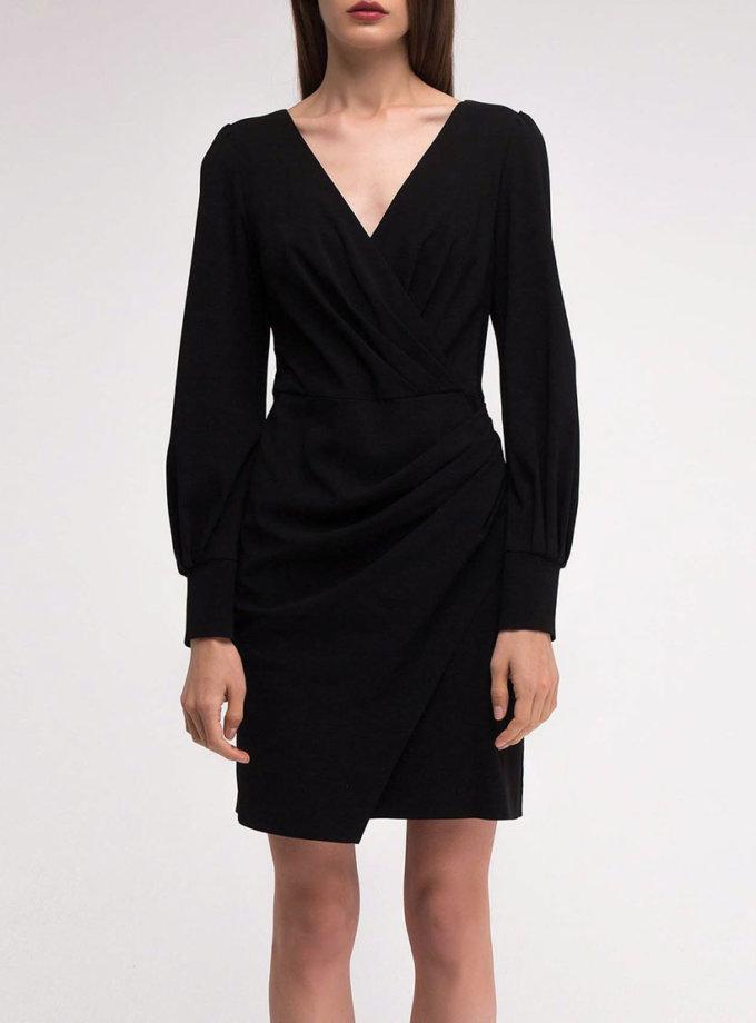 Платье с драпировкой на запахе SHKO_18054007, фото 1 - в интернет магазине KAPSULA